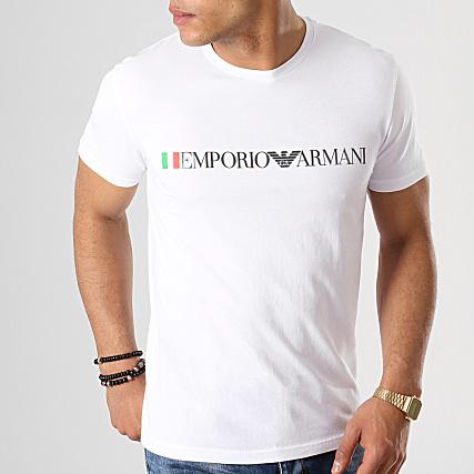 Tee Emporio Shirt Blanc Armani 9p510 110853 Nm8n0w