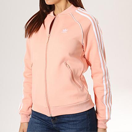 veste adidas femme rose et noir