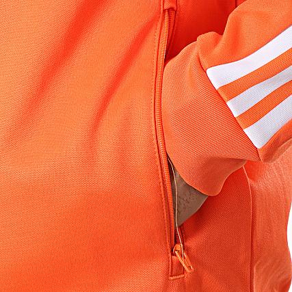 De Dz4574 Orange Sport Adidas Veste A Bandes Beckenbauer WD29HEI