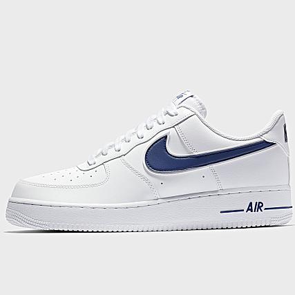 sports shoes 19887 6d5e9 Home   Nike   Baskets - Chaussures   Baskets Basses   Nike - Baskets Air  Force 1  07 3 AO2423 103 White Deep Royal