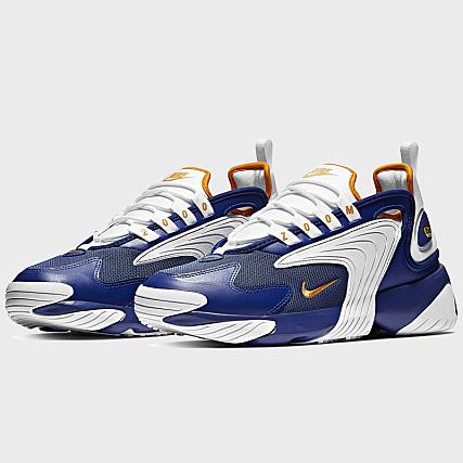 sneakers for cheap 6fd86 765d7 Nike - Baskets Zoom 2K AO0269 Bleu Royal Pelure D Orange -  LaBoutiqueOfficielle.com