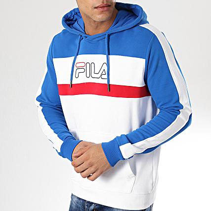 Fila Sweat Capuche Miro 687132 Blanc Bleu Roi Rouge
