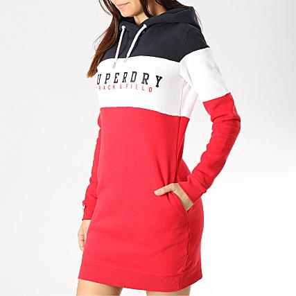 achat spécial prix de détail faire les courses pour Superdry - Robe Sweat Capuche Femme Track And Field G80120NT ...