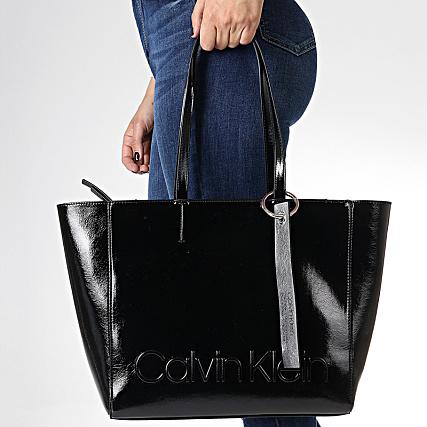 acheter en ligne 7fe0b d3723 Calvin Klein - Sac A Main Femme Edged Shopper 5051 Noir ...