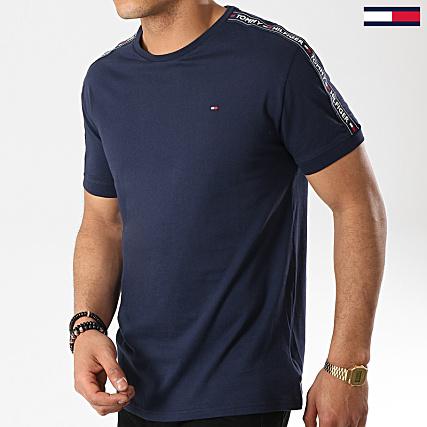Tommy Hilfiger Jeans Tee Shirt Avec Bandes 0562 Bleu