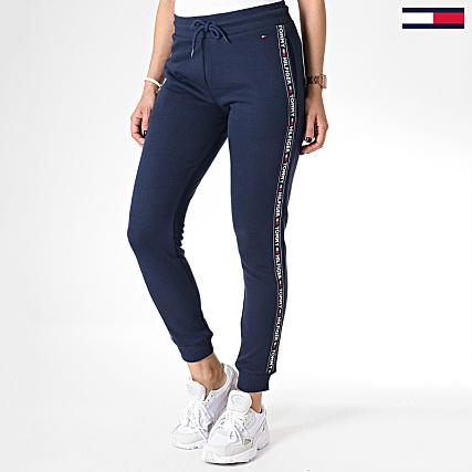 Jogging Bleu Hilfiger Jeans Bandes 0564 Pantalon Femme Tommy Avec 1JKlFc