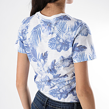 New Tee Femme Pkw0onx8 Original G10147yt Blanc Superdry Hibiscus Shirt LMVGqSUzp