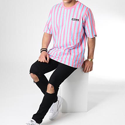 ellesse Coral T shirt rayé Rose | ASOS