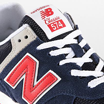 meilleures baskets 8dcdd 97436 New Balance - Baskets 574 722221-60 Navy Pigment ...