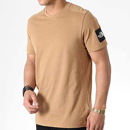 Beige 2 North Fine Tee 3bp7 The Face Shirt 80kwOPn