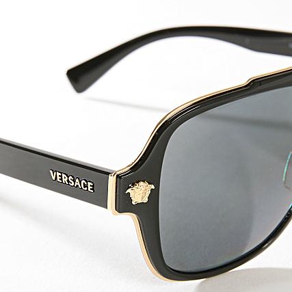 Doré Versace Soleil Lunettes Noir 0ve2199 De 100281 mNwvn80