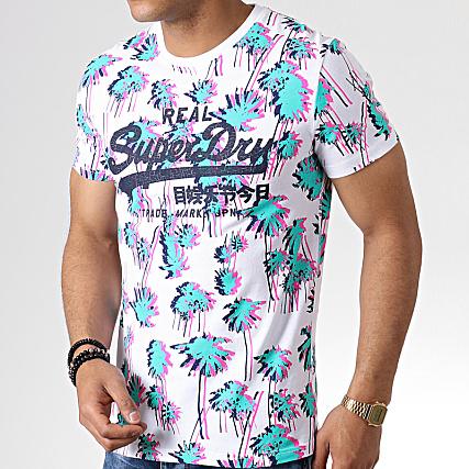 Superdry Tee Shirt Floral Vintage Logo AOP M10154TU Blanc