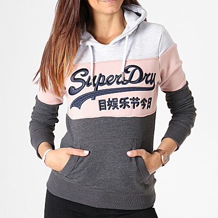Superdry Sweat Capuche Femme Vintage Logo High Build