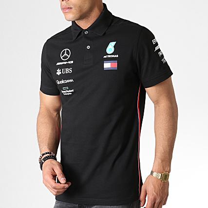 07e2cf37cf6 AMG Mercedes - Polo Manches Courtes 141191040 Noir -  LaBoutiqueOfficielle.com