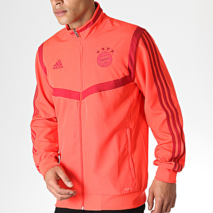 reasonably priced great quality best price adidas - Veste De Sport A Bandes FC Bayern DX9178 Rouge ...