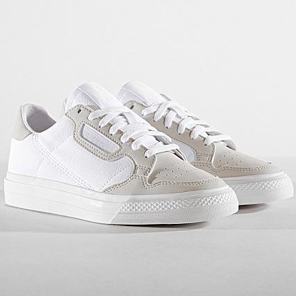 adidas - Baskets Femme Continental Vulc Footwear White Grey ...