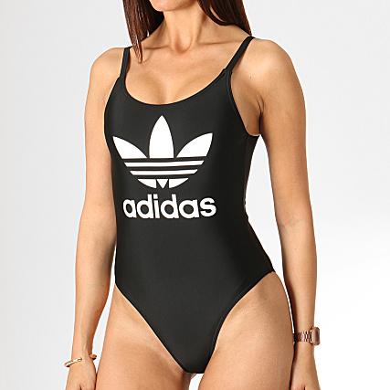 adidas Maillot De Bain Une Pièce Femme Trefoil ED7537 Noir