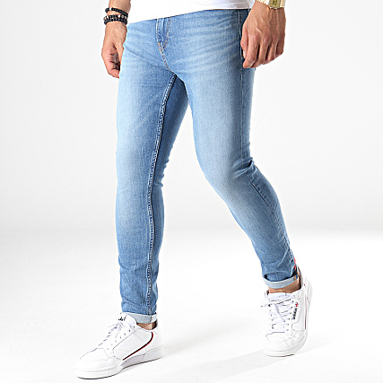 Calvin Klein Jeans Jean Skinny Crop 2437 Bleu Denim
