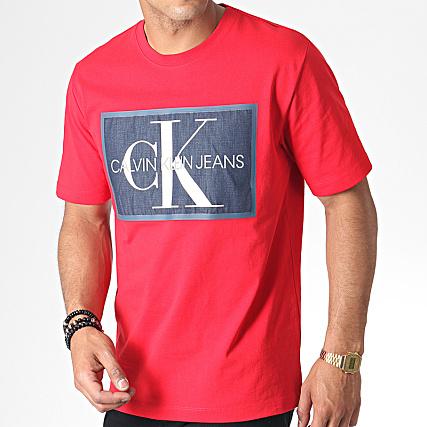 Tee Rouge Monogram Icon Klein Shirt Box Jeans Calvin 2477 T1clJ3FK
