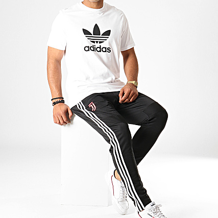 Noir Jogging Dx9129 Adidas Pantalon Bandes Blanc Tr Juventus A PTukXiZOw