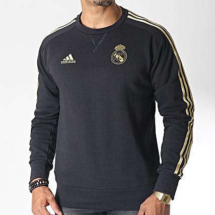 Crewneck Real Bandes Doré Avec Adidas Sweat Dx7863 Noir vm8n0Nw