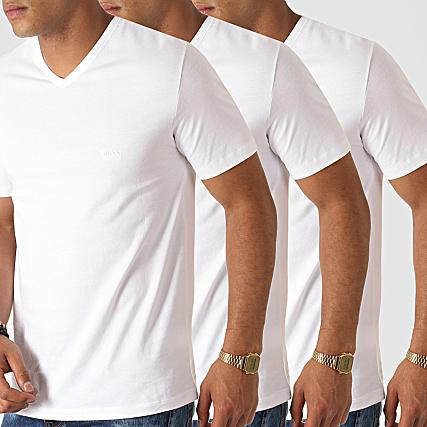 08dd71cd3eb Hugo Boss - Lot De 3 Tee Shirts Col V 50325389 Blanc ...