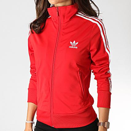 veste adidas rouge femme