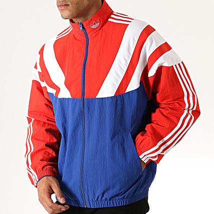 Veste adidas rouge bleu et blanc