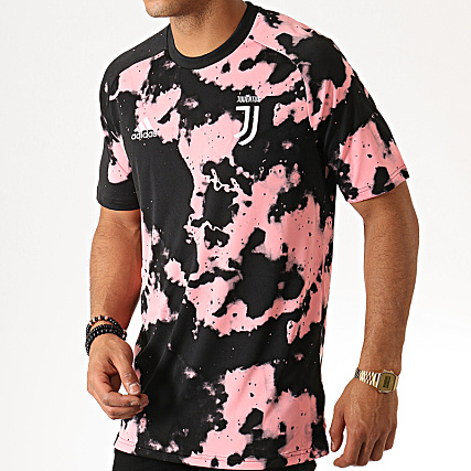adidas Tee Shirt De Sport Juventus Preshi FJ0736 Rose Noir
