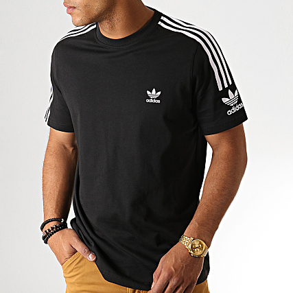 Noir Shirt A Tech Adidas Bandes Ed6116 Tee 80nwPkO