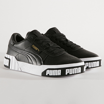 Puma Baskets Femme Cali Bold 370811 Blanc Noir Doré