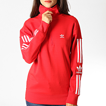 adidas Sweat Col Zippé Femme Avec Bandes Lock Up ED7527