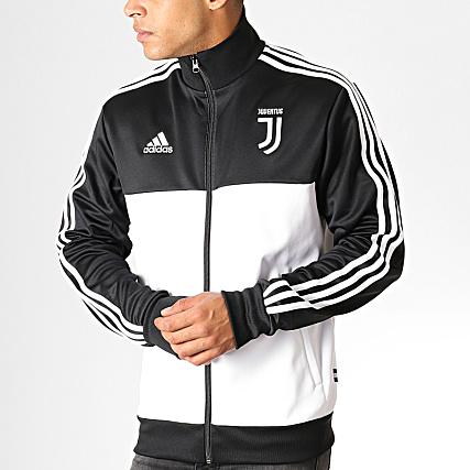 adidas Veste Zippée Juventus 3 Stripes DX9204 Blanc Noir