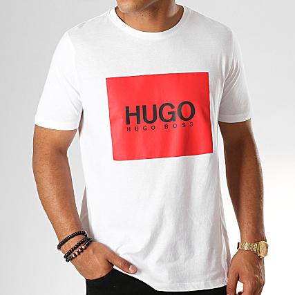 6b89329f54c HUGO by Hugo Boss - Tee Shirt Dolive 194 50414225 Blanc Rouge Noir ...