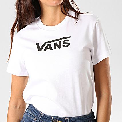 Vans Tee Shirt Femme Flying V Classic A47WHWHT Blanc
