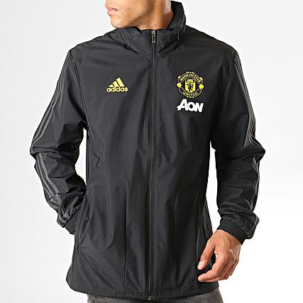 Zippée Capuche Bandes Eb6515 Manchester United Aw Veste Adidas A CxodeB