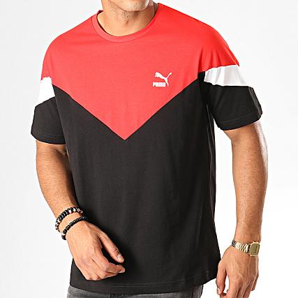 Puma Iconic Blanc 595726 Mcs Noir Tee Shirt Rouge BroCedxW