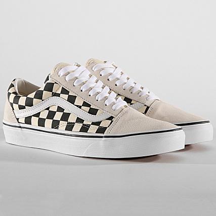 Vans - Baskets Old Skool A38G127K Checkerboard White Black ...