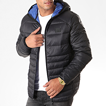 Doudoune And Puffer Roi Jack Bomb Jones Noir Bleu Aj354RLq