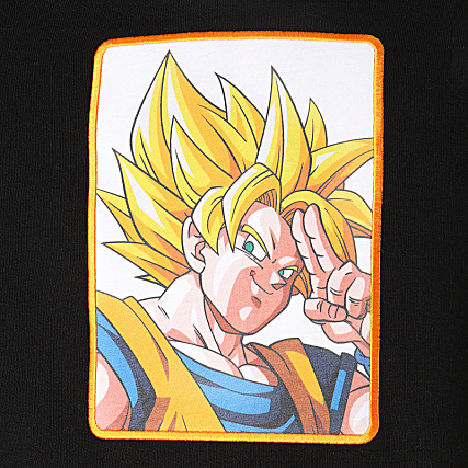 Dragon Ball Z Sweat Capuche Brodé Goku Noir Blanc