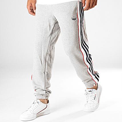 Adidas Jogging A 3 Bandes Pantalon Ed6258 Chiné Stripes Gris 54RLAj3