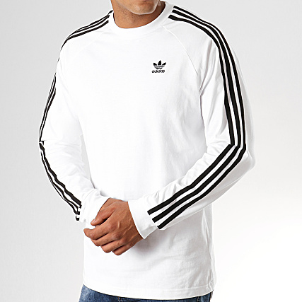 adidas - sweat crewneck 3 stripes dv1555 noir blanc