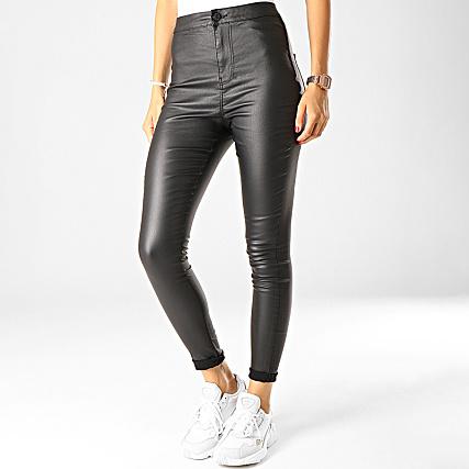 Pantalon Noir Ella Noisy Femme Enduit May 0OPkXN8nw