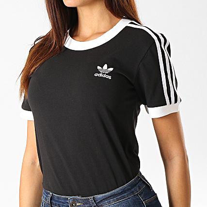 Acheter Noir adidas Originals T shirt 3 Stripes California