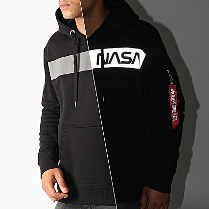 Alpha Industries Sweat Capuche Réfléchissant NASA RS