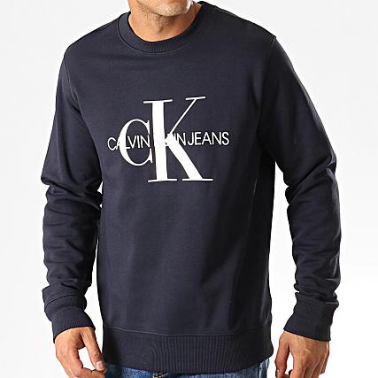 Bleu Klein Calvin Crewneck 4313 Marine Sweat Monogram XiwOTlkZuP