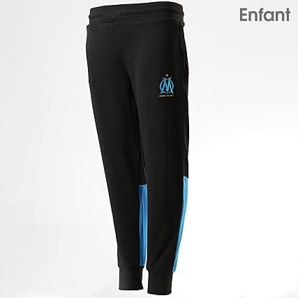 OM Pantalon Jogging Enfant OM Fan M19037 Noir Bleu Clair