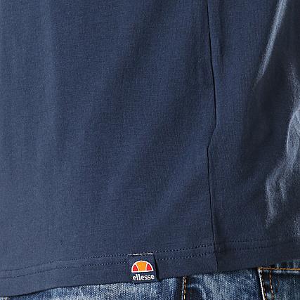 Ellesse Limentra Polo en Bleu marine-manches courtes coton Contraste Col