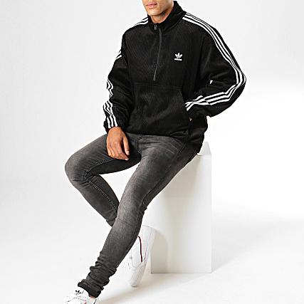 get online casual shoes competitive price adidas - Veste Col Zippée A Bandes Cord HZ ED6129 Noir ...