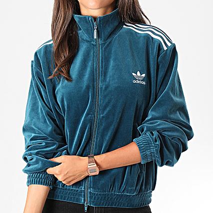 adidas Veste De Sport Femme A Bandes Velvet ED4731 Vert